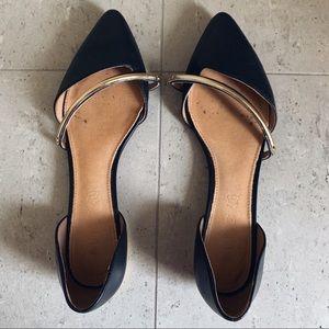 Black Pointed Toe Aldo Flats